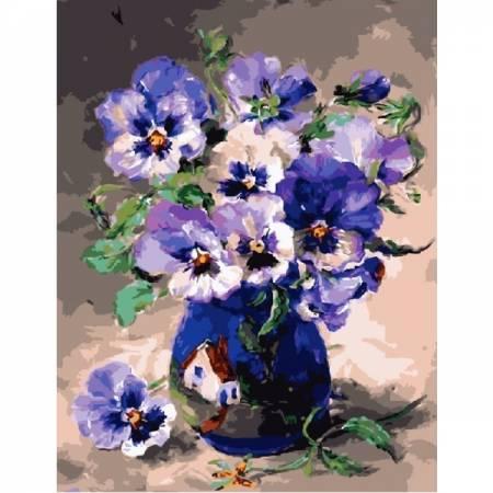 Картина по номерам Любимые цветы - анютины глазки GX3811, Rainbow Art