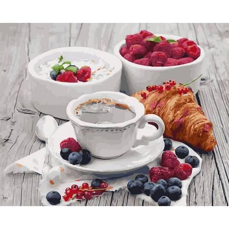 Картина по номерам Ароматный завтрак GX5509, Rainbow Art