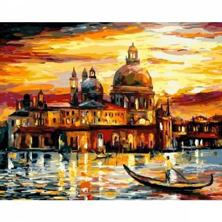 Картина по номерам Золотистые краски Венеции GX6753, Rainbow Art