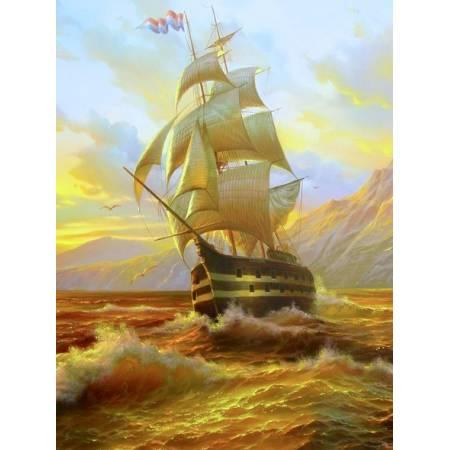 Картина по номерам Корабль на рассвете GX7278, Rainbow Art