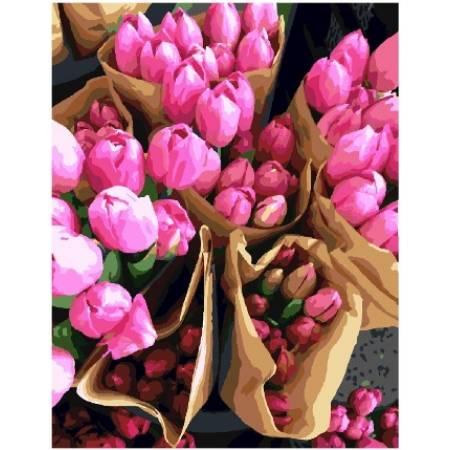 Картина по номерам Тюльпаны из Голландии GX7520, Rainbow Art