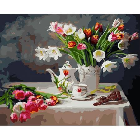 Картина по номерам Весенний натюрморт GX8391, Rainbow Art