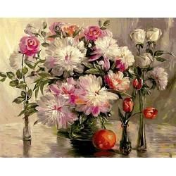 Натюрморт пионы и розы