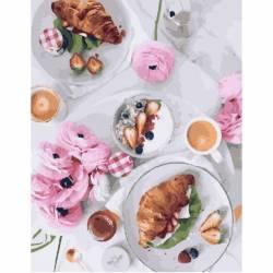 Завтрак по-французски, цветной холст