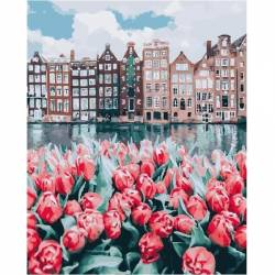 Цветы Амстердама, цветной холст