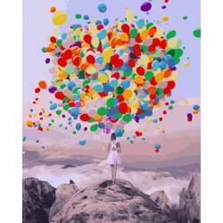 Буйство шаров, цветной холст