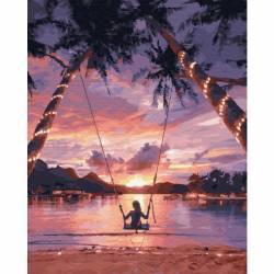 Райское наслаждение, цветной холст