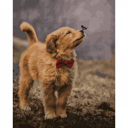Картина по номерам Верный друг, цветной холст PGX29744, Rainbow Art