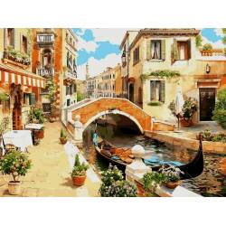 Венецианский мостик, цветной холст