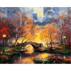 Краски вечернего парка, цветной холст