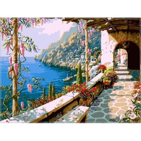 Картина по номерам «Вилла на Капри», модель VP014