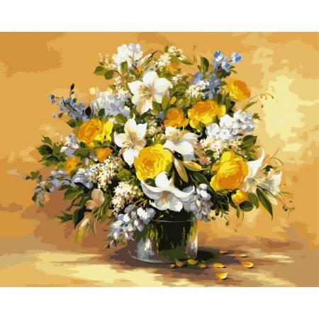 Картина по номерам «Безупречная красота цветов», модель VP111