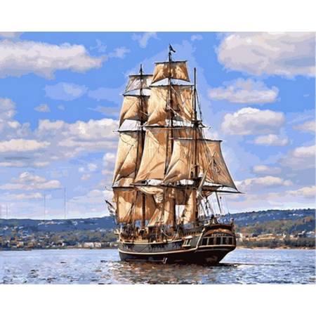 Картина по номерам Парусник в плавании VP885, Babylon