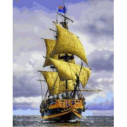 Пиратский Корабль, цветной холст
