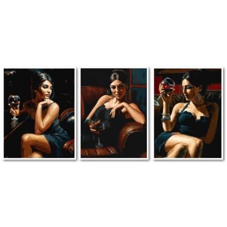 Картина по номерам Девушка с бокалом вина VPT032, Babylon