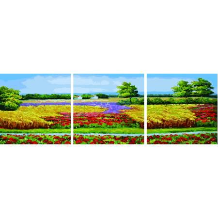 Картина по номерам Цветущее поле DZ171, Babylon