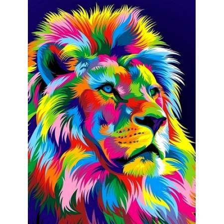 Картина по номерам Радужный лев VK037, Babylon