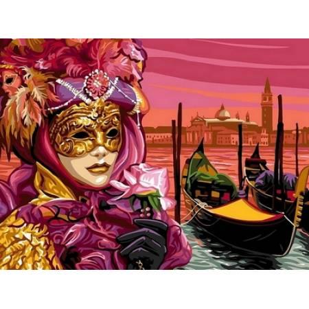 Картина по номерам Венецианская маска VK042, Babylon