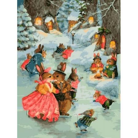Картина по номерам «Рождественская прогулка», модель VK141