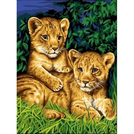 Картина по номерам Забавные львята VK143, Babylon