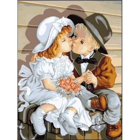 Картина по номерам Первый поцелуй 2 VK148, Babylon