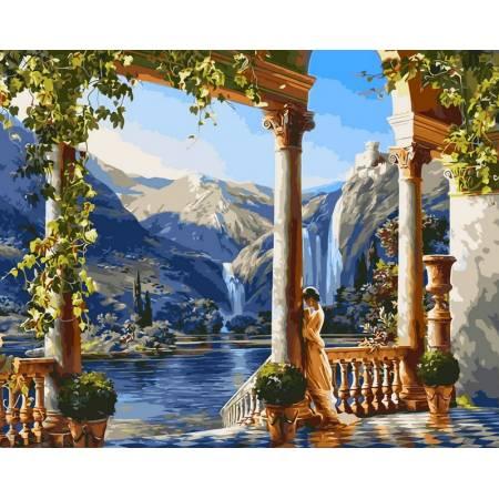 Картина по номерам Девушка у водопада VP011, Babylon
