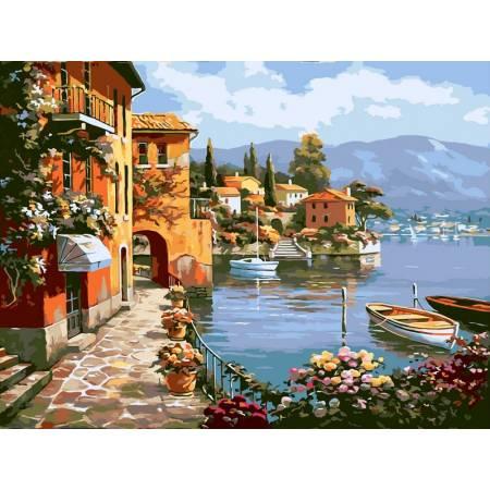 Картина по номерам «Летняя набережная», модель vp012