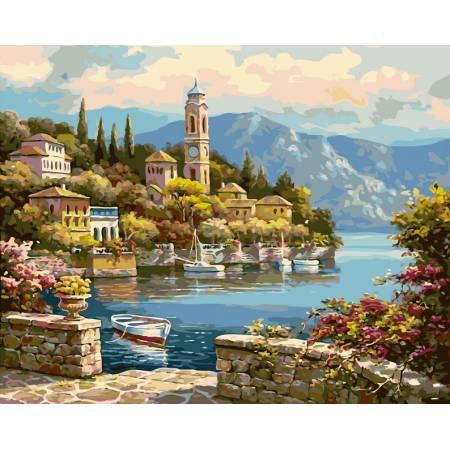 Картина по номерам Башня на берегу vp018, Babylon
