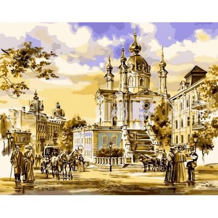 Картина по номерам Андреевская церковь VPS048, Babylon