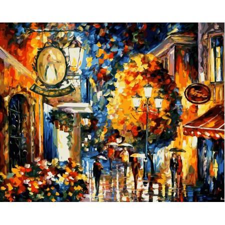 Картина по номерам Кафе в старом городе vp068, Babylon