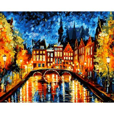 Картина по номерам Ночь в Амстердаме vp071, Babylon