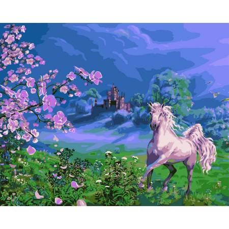 Картина по номерам Розовая лошадь VP170, Babylon