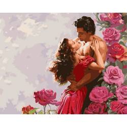 Влюбленные среди роз