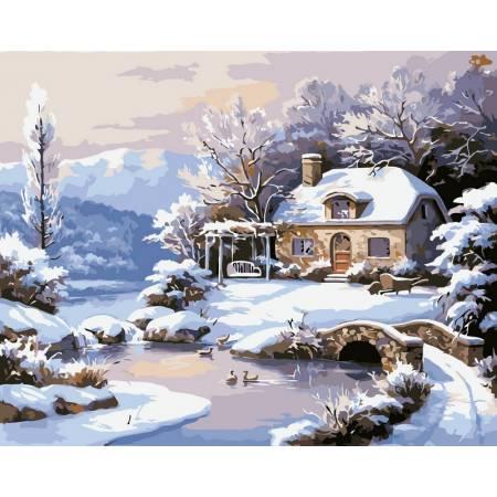 Картина по номерам Зимний домик VP208, Babylon