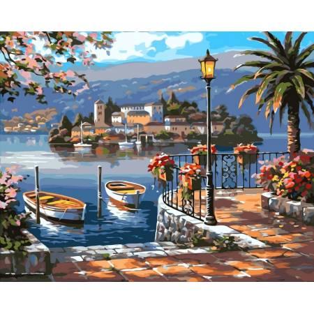 Картина по номерам «Картина по номерам на холсте - Летняя пристань худ. Сунг, Ким», модель VP213