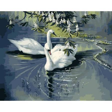 Картина по номерам Белые лебеди vp233, Babylon