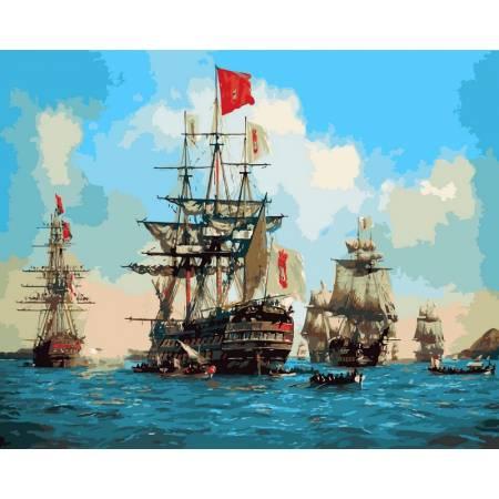 Картина по номерам Парусники в море VP258, Babylon