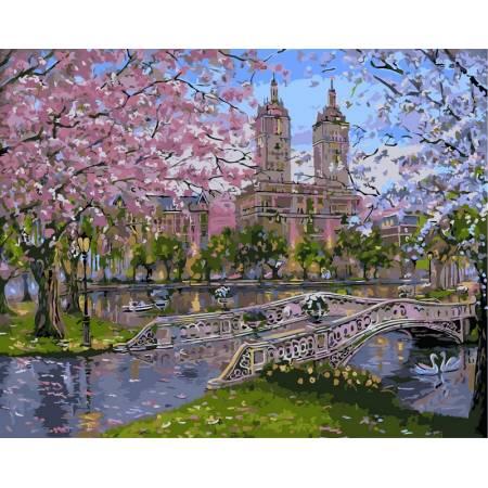 Картина по номерам «Весна в парке», модель vp296