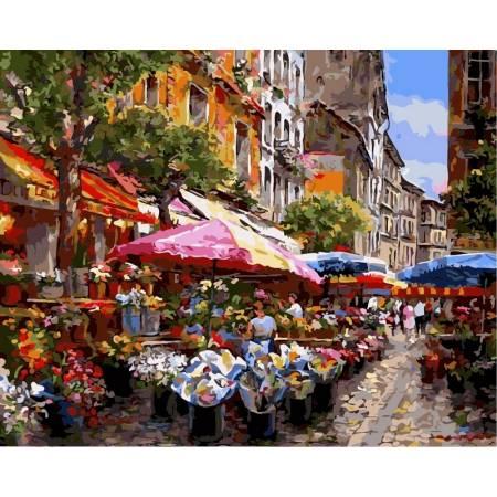 Картина по номерам Цветочный рынок vp299, Babylon