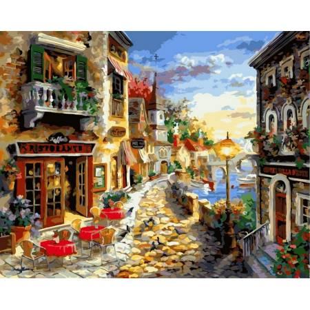 Картина по номерам «Приморский бульвар», модель vp300