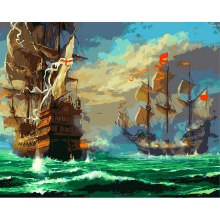 Картина по номерам Морской бой vp319, Babylon