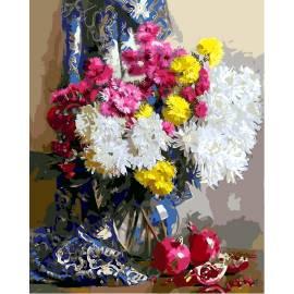 Хризантемы и гранаты
