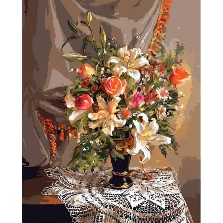 Картина по номерам Букет с лилиями vp336, Babylon