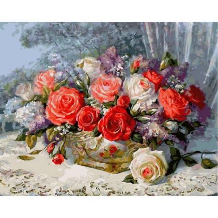 Картина по номерам Розы на веранде vp337, Babylon