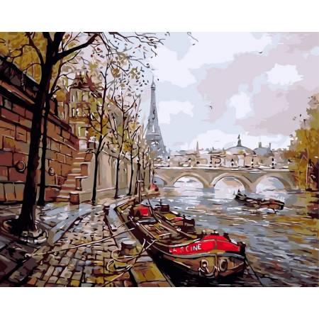 Картина по номерам Набережная Парижа vp343, Babylon