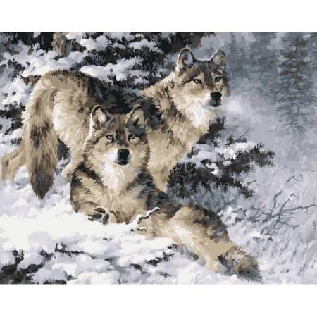 Картина по номерам «Пара волков худ. Феннинг Ларри», модель vp344
