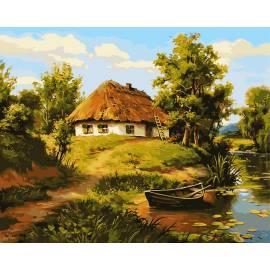 Домик возле пруда