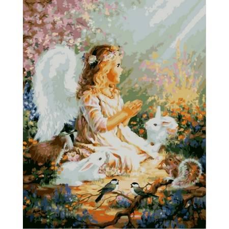Картина по номерам «Молитва ангела» без коробки, KHO2306