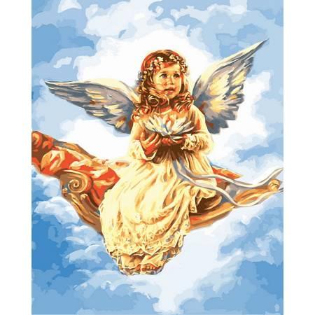 Картина по номерам Ангелочек в облаках VP433, Babylon