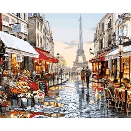 Картина по номерам «Прогулка в Париже ХудМакНейл Ричард », модель VP443